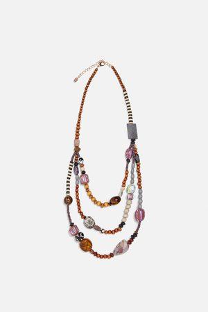 Zara Halskæde med kombineret kugle og sten