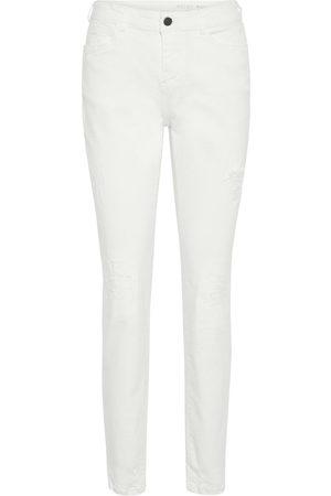 Noisy May White Mid-rise Jeans Kvinder White
