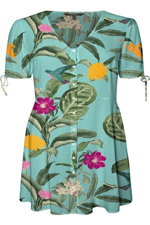 Vero Moda Kvinder Mønstrede kjoler - Printed Short Dress Kvinder Grøn