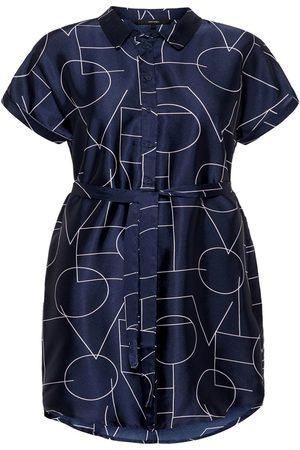 Vero Moda Kvinder Mønstrede kjoler - Graphic Printed Dress Kvinder Blå