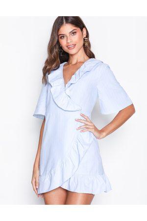 Topshop Kvinder Casual kjoler - Poplin Ruffle Mini Dress Skater kjoler