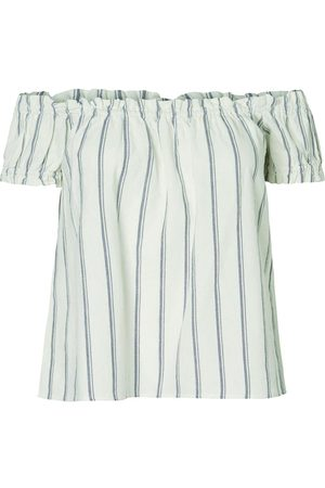 Vero Moda Kvinder Toppe - Off-shoulder Striped Top Kvinder Blå