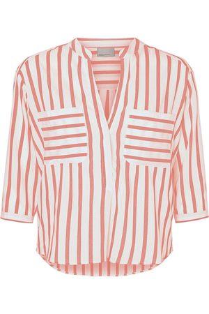 Vero Moda Striped Loose Fit Shirt Kvinder Rød