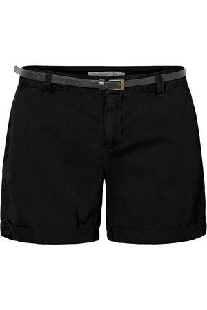 Vero Moda Chino Belt Shorts Kvinder Sort