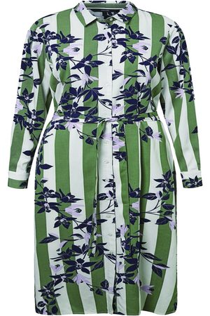 Vero Moda Printed Midi Shirt Dress Kvinder Grøn