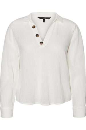 Vero Moda Button Top Kvinder White