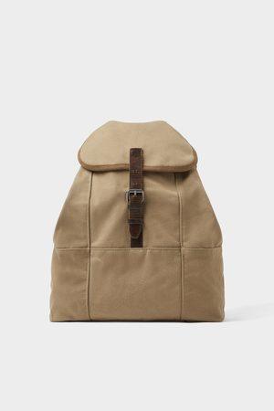 Zara Beige rygsæk i bomuld