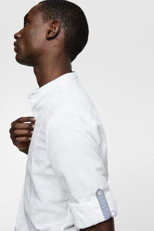 Zara Skjorte med kinakrave