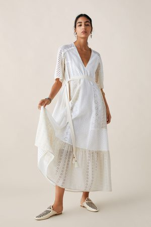 Zara Limited edition studio kjole med cutwork-broderi