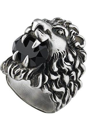 Gucci Ring med løvehoved og krystaller