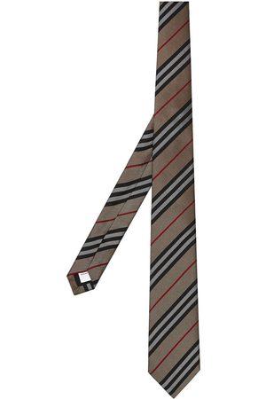 Burberry Klassisk slips i silke med Icon-stribe