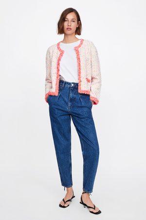 Zara Cardigan med flossede pyntekanter