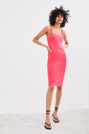 Zara Kvinder Bodycon kjoler - Stram kjole med stropper