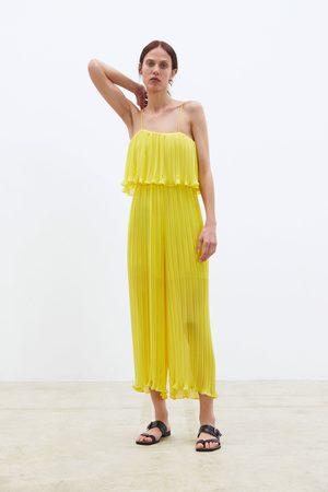 Zara Plisseret buksedragt med stropper