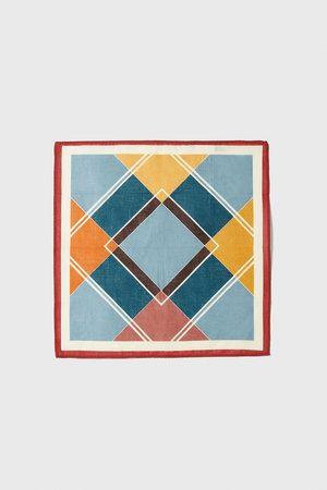 Zara Tørklæde med geometrisk mønster