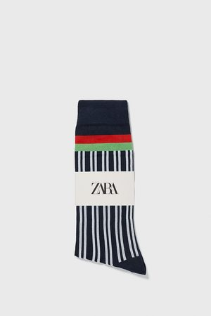 Zara Socks with vertical stripes