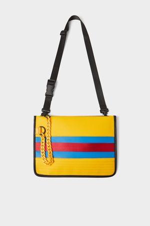 Zara Yellow crossbody bag with chain detail