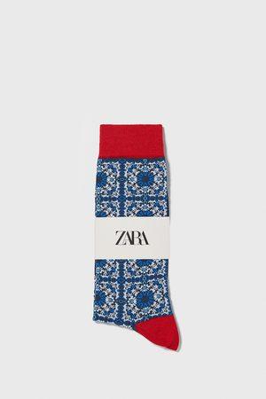 Zara Geometriske jacquardvævede strømper i merceriseret bomuld