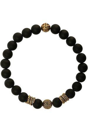 Nialaya Indgraveret armbånd med perler