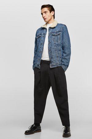 Zara Denim jakke med kontrast