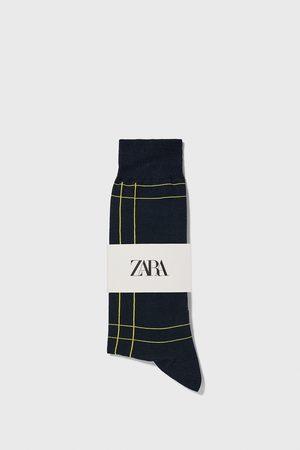 Zara Mænd Strømper & Sokker - Merceriserede strømper med tern
