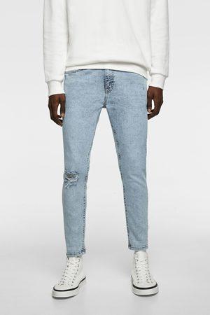 Zara Mænd Skinny - Carrot fit, skinny jeans med huller