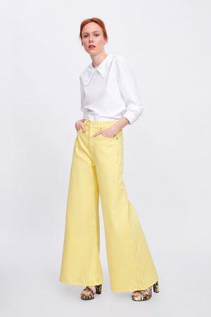 Zara Kvinder Jeans - Jeans ze premium vintagehigh waist lemon yellow