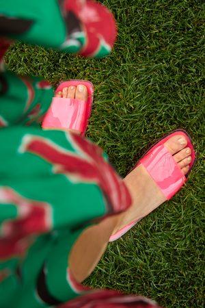 Zara Kvinder Sandaler - Flade sandaler i vinyl