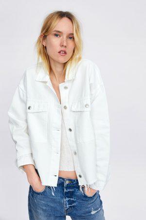 Zara Jeans i denim med flosset sømkant