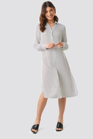 NA-KD Kvinder Casual kjoler - Midi Striped Shirt Dress