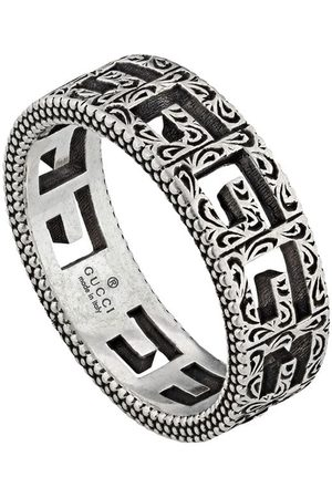 Gucci Ring i sølv med firkantet G