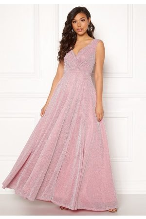 Goddiva Wrap Front Maxi Dress Pink XS (UK8)