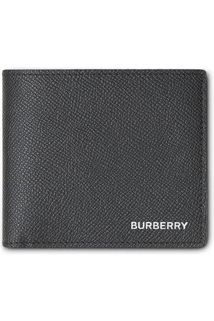 Burberry International-foldepung i grynet læder