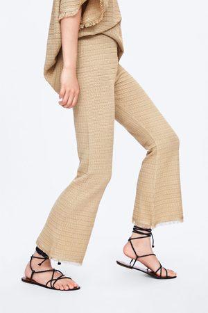 Zara Strikkede bukser med frynser