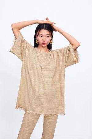 Zara Strikket sweater med frynser
