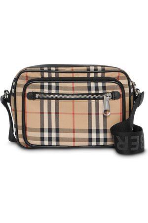 Burberry Crossbody-taske i læder med vintage-ternet mønster