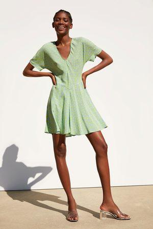 Zara Kvinder Mønstrede kjoler - Mønstret kjole
