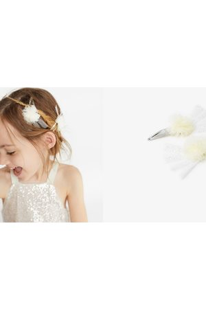 Zara Håraccessories - Pakke med 2 hårspænder med pomponer i tyl