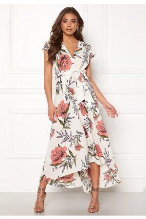 Ax Paris Kvinder Maxikjoler - Floral Waterfall Dress Cream M (UK12)