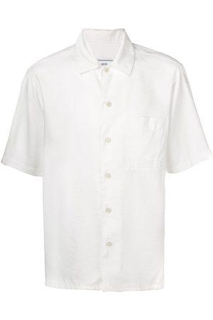 Ami Kortærmet skjorte med camp-krave og brystlomme