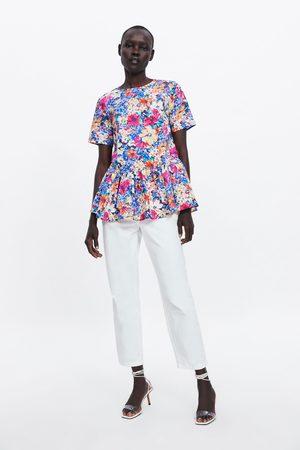 Zara Blomstret bluse