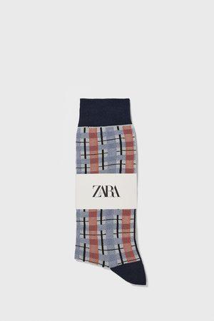Zara Mænd Strømper & Sokker - Check jacquard socks