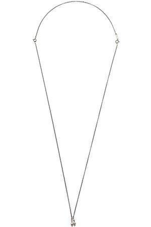 UGO CACCIATORI Double skull pendant necklace