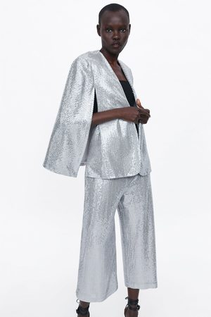 Zara Kvinder Culottes bukser - Culottebukser med pailletter