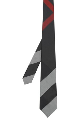 Burberry Oversize ternet slips i silke med moderne snit