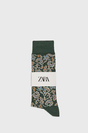Zara Merceriserede strømper med blomster