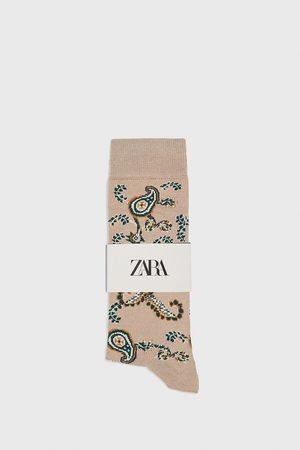 Zara Merceriserede strømper med paisley