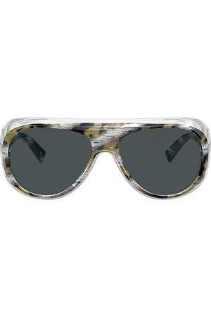 ALAIN MIKLI Oversize solbriller med marmor-effekt