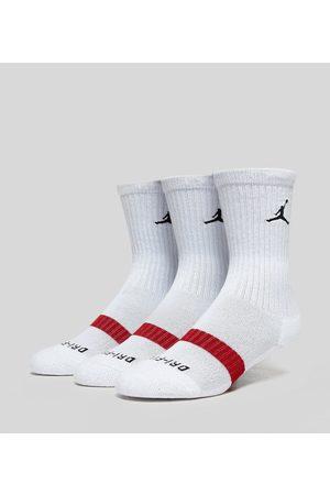 Jordan Crew Sokker Pakke med 3, Hvid