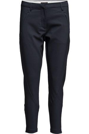 Angelie 238 Zip, Navy Jeggin, Pants Smalle Bukser Skinny Pants